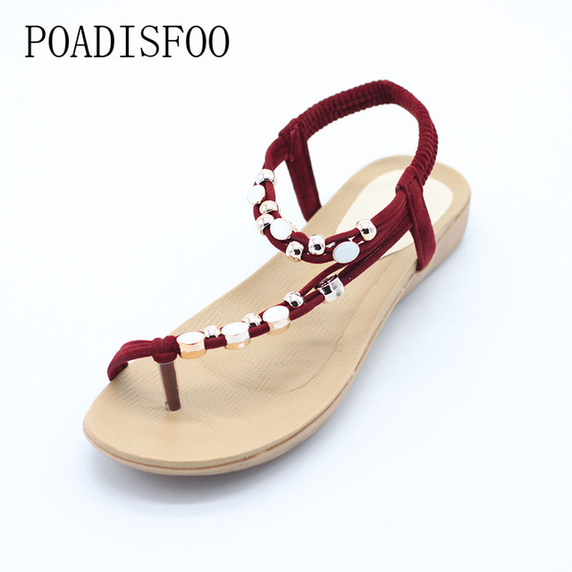 toe beads poadisfoo 2017 new summer wrap strap bohemian style with beads