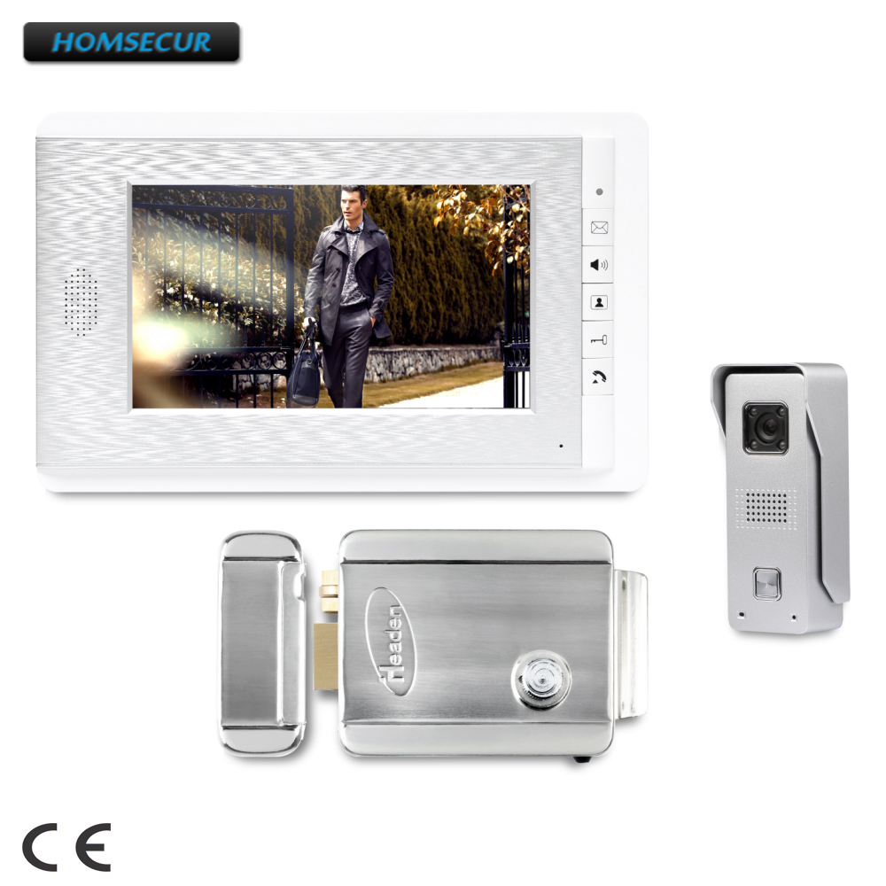 HOMSECUR 7inch Video Security Door Phone with Mute Mode for Home Security for House/ Flat : XC002+XM708-S homsecur 7 video security door phone with intra monitor audio intercom for home security xc002 xm708 s