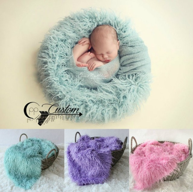 100x150cm mongolian faux fur wool blanket newborn baby photography background backdrops photo props rug long hair