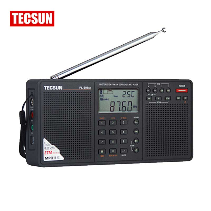 Tecsun PL-398MP Radio FM & MP3 Player Full Band Digital Tuning DSP  Stereo/MW/SW/LW Receiver SD Card Dual Speaker  MP3 Playback full band portable radio degen de29 fm am digital tuning clock beautiful sound rechargeable mp3 player radio dot matrix screen