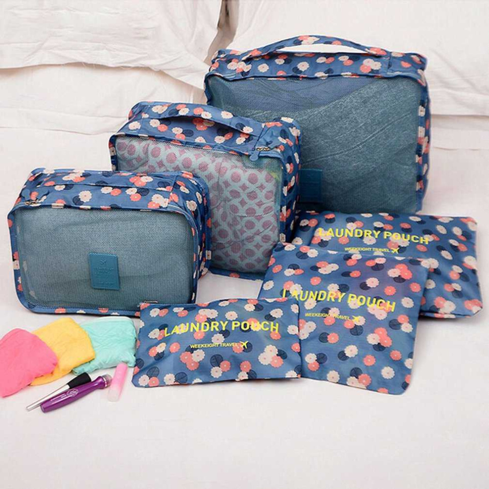 6pcs/set Travel Storage Bag Set for Clothes Tidy Organizer Pouch Suitcase Home Closet Divider Container Packing Laundry Bag