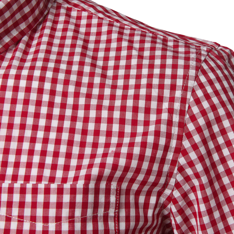 Small Plaid Shirt Men Summer New Short Sleeve Cotton Mens Dress Shirts Casual Button Down Chemise Homme Camisa Masculina XXXL 5