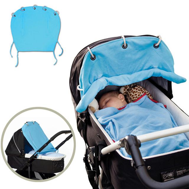 Cochecito cortinas de protección solar bebé de la sombrilla cochecito ventilación nuevos sólidos bebé cochecito cortinas de protección solar