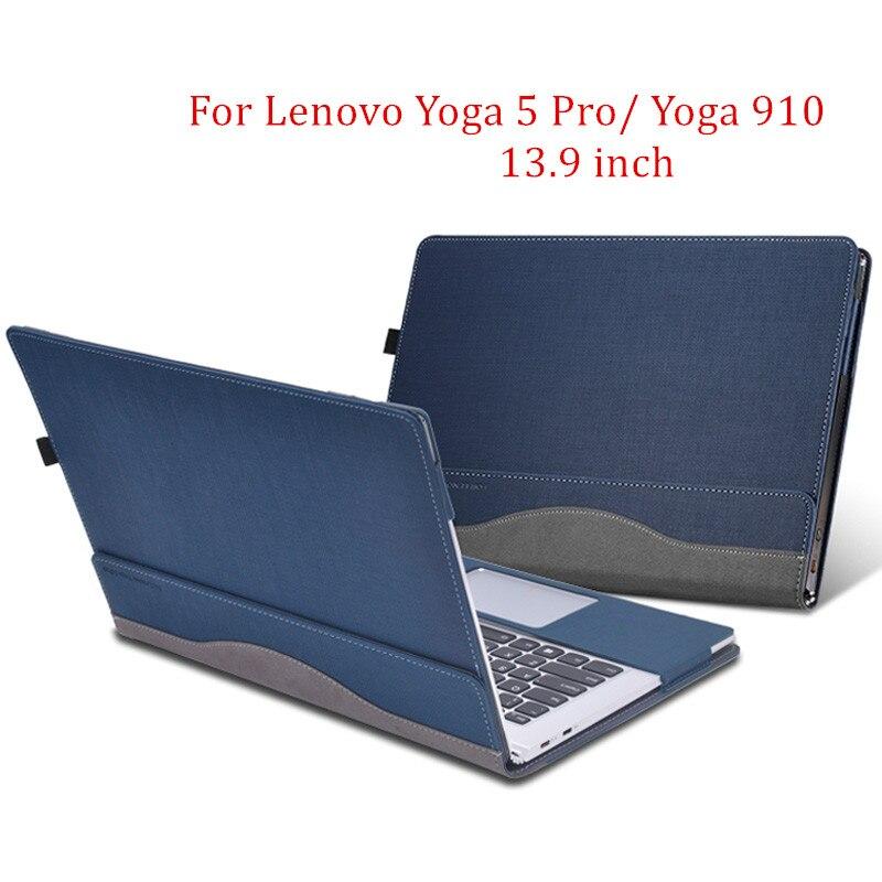 Funda desmontable para Lenovo Yoga 5 Pro 13,9 ''Tablet Laptop manga funda piel protectora de cuero PU para Yoga 910 regalo-in Fundas de tabletas y libros electrónicos from Ordenadores y oficina on AliExpress - 11.11_Double 11_Singles' Day 1