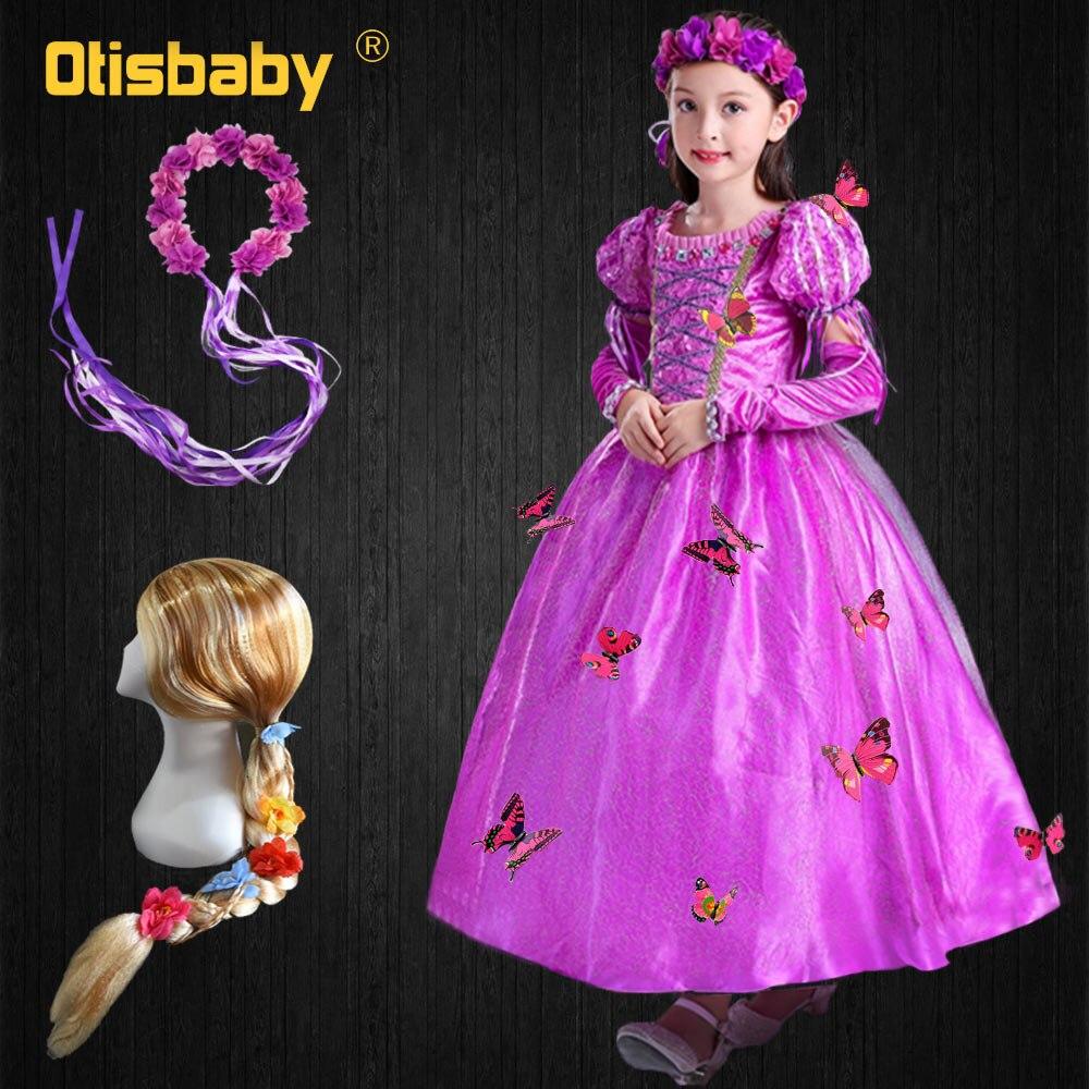 66995b2ef Traje de Navidad Floral de Princesa Sofia disfraz de Halloween niño nieve  reina Rapunzel fiesta niños ropa dormir belleza niñas vestido