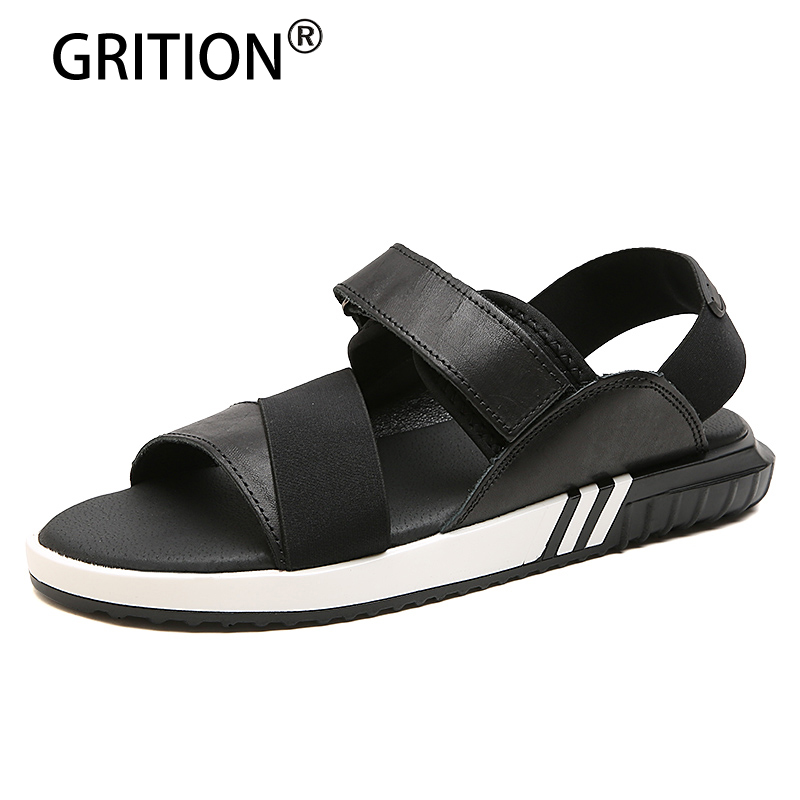 GRITION New Arrival Summer Fashion Men Sandals Leisure Mesh Men Shoes Large Size Light Weight Sandals And Slippers Free Shipping