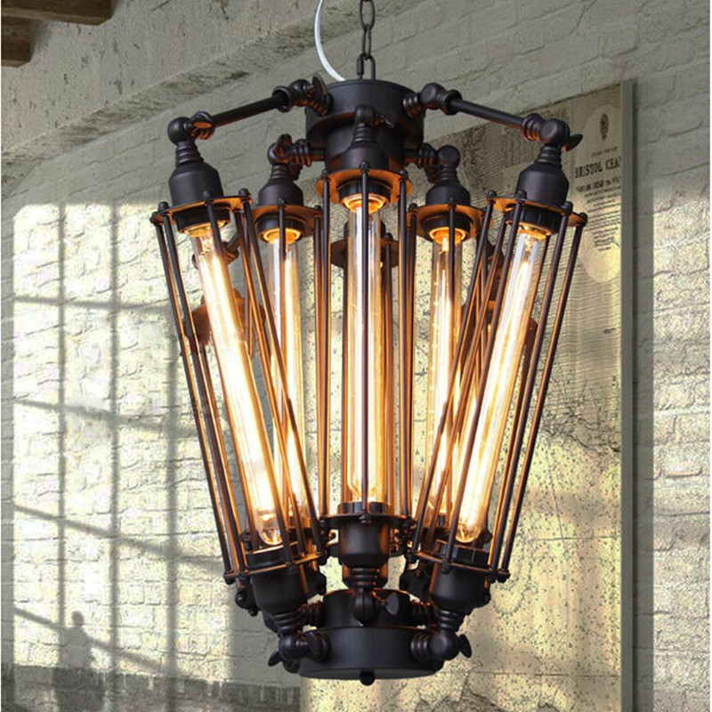 Retro Edison Bulbs Pendant Light Loft Industrial Alcatraz island Hanging Lamp Dining Room Bar Cafe Light Free Shipping edison loft style vintage light industrial retro pendant lamp light e27 iron restaurant bar counter hanging chandeliers lamp