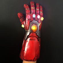 лучшая цена Iron Man Nano Gauntlet Led Gloves Thanos Infinity Gauntlet Avengers Endgame Weapon Iron Man Armor Tony Stark Cosplay Props