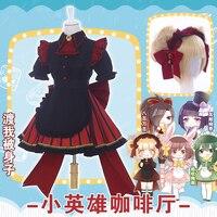 [В продаже] Аниме Boku no Hero Academia Himiko Toga Cafe Maid Lolita платье/костюм/наряд Косплей Костюм Хэллоуин Бесплатная доставка.