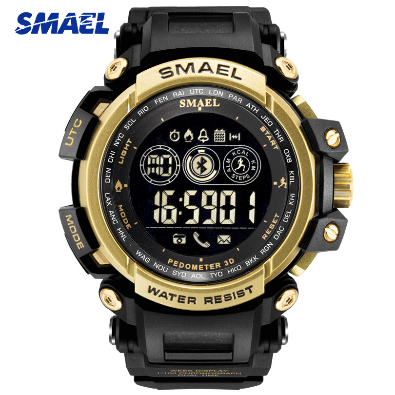 SMAEL Top Brand Men Luxury Sport Watches Stopwatch Digital LED Electronic Clock Man Military Week Date Watch Relogio Masculino smael 1708b