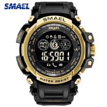 цены SMAEL Top Brand Men Luxury Sport Watches Stopwatch Digital LED Electronic Clock Man Military Week Date Watch Relogio Masculino