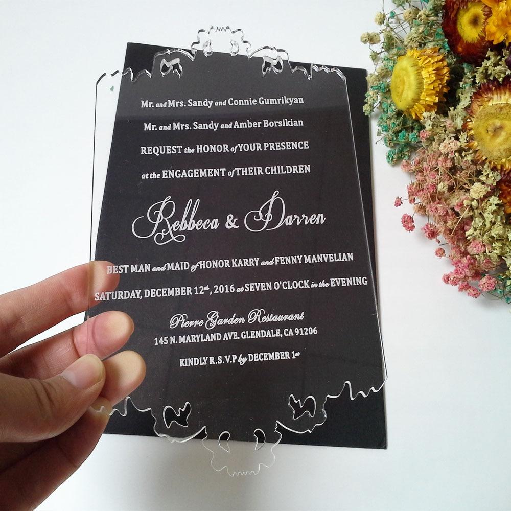 Tarjeta personalizada de invitación de boda de acrílico - Para fiestas y celebraciones - foto 4