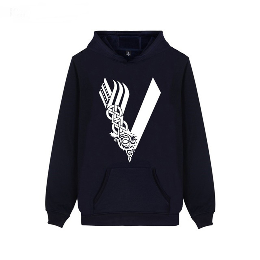 Trendy Design V Word Hot TV Show Vikings Men/Women Pocket Hoodies Hipster Brand Unisex Casual New Spring 4XL Clothes Sweatshirts