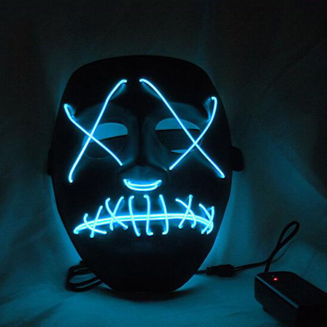 EL Wire DJ Party Festival Halloween Costume Neon LED Mask 2016-in ...
