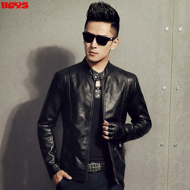 2016 men jacket leisure coat fashion cultivate one's morality men 's pu leather one undertakes