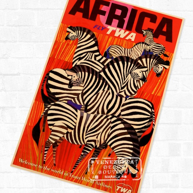 9898d99fd7 Mystic South Africa African Propaganda Vintage Travel Poster Retro Canvas  DIY Wall Stickers Art Home Bar Posters Decor Gift