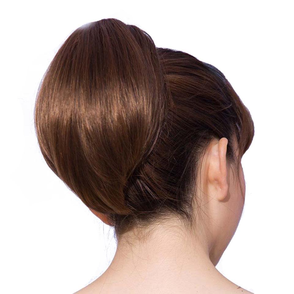 SHANGKE Hair 6 '' Short Hästsvans Naturlig Svart Klaw Drawstring - Syntetiskt hår - Foto 1