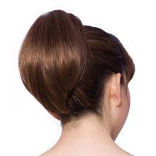 SHANGKE שיער 6 '' קצר קוקו טבעי טופר שחור פוני זנב חום עמיד סינתטי קוקטייל לנשים