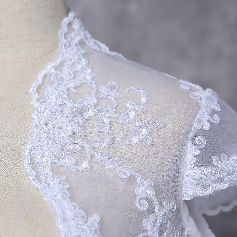 New Fancy Wedding Shawl Short Sleeves White Ivory Wedding Jacket Lace Bolero Bridal Wrap Custom