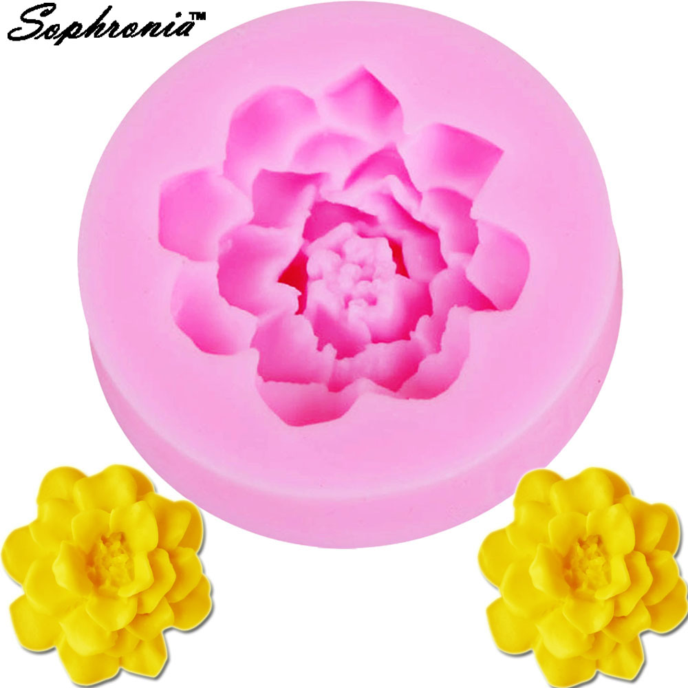 Sophronia M517 Lotus Flower Chocolate Candy Jello 3d Silicone Mold