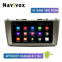 Navivox Android8.1 автомобильный DVD gps плеер для Toyota Camry 2008 2009 2010 2011 Автомобильный мультимедийный радио gps навигационный головное устройство