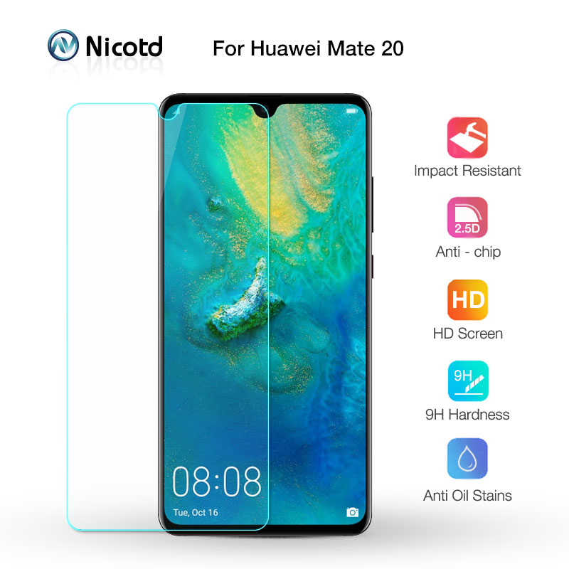Nicotd Tempered-Glass Protective-Film Screen-Protector Huawei Mate 9H for 20-6.53inch