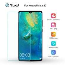 Nicotd 2.5D 9 H Cao Cấp Tempered Glass Đối Với Huawei Mate 20 6.53 inch Bảo Vệ Màn Hình Cường Lực màng bảo vệ Cho Huawei người bạn đời 20