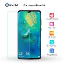 Nicotd 2.5D 9 H פרימיום מזג זכוכית עבור Huawei Mate 20 6.53 inch מסך מגן משוריינת מגן סרט עבור Huawei mate 20