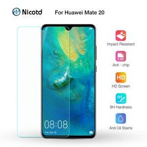 Image 1 - Nicotd 2.5D 9 H Premium Gehärtetem Glas Für Huawei Mate 20 6,53 zoll Screen Protector Gehärtetem schutz film Für Huawei mate 20