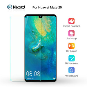 Image 1 - Nicotd 2.5D 9H premium hartowane szkło dla Huawei Mate 20 6.53 cal Screen Protector hartowana folia ochronna dla Huawei Mate 20