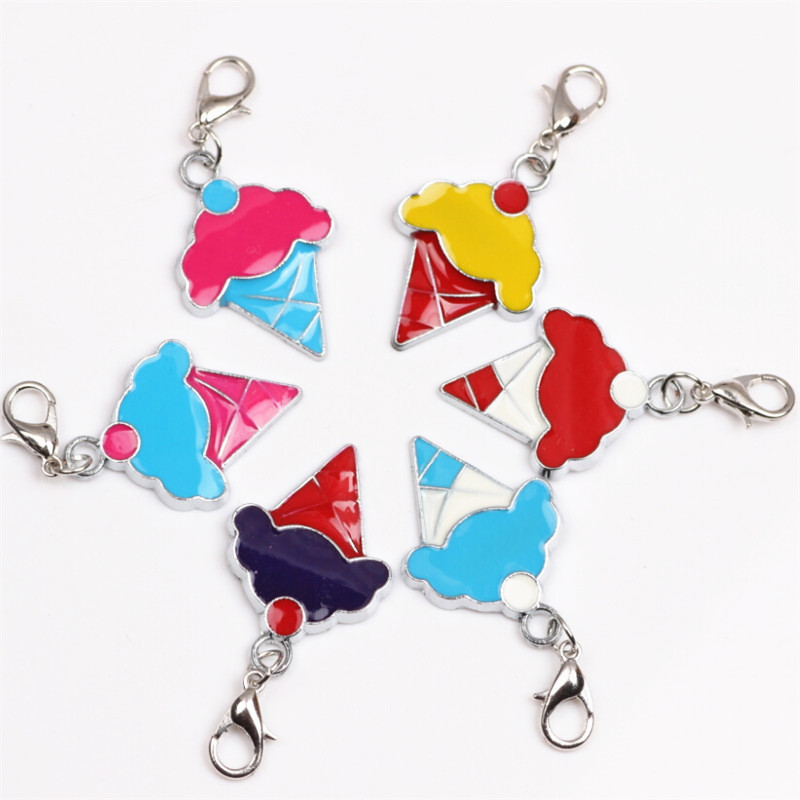 Wholesale 20pcs/lot Assorted Color Ice Cream Dangle For Glass Magnet Living Locket Pendant