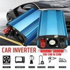 3000W/4000W DC 12/ 24V to AC 220V Car LED Solar Power Inverter Sine Wave USB Converter Built-in cooling Fan Overload Protection