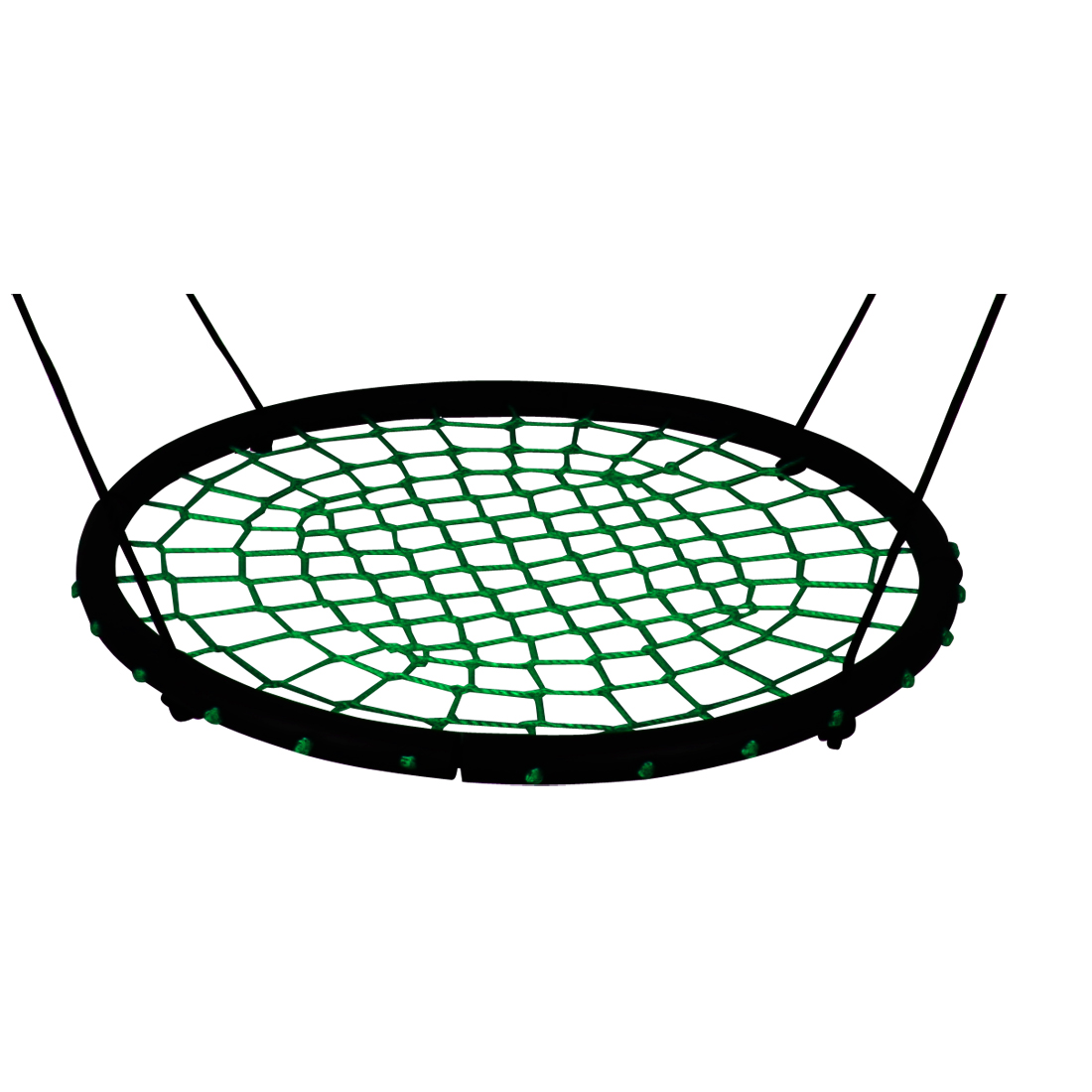 Enfants ronde nid nid balançoire intérieure et extérieure cintre enfants net corde stout swing jouets pour bébés portant 200 kg diamètre 100 cm - 3