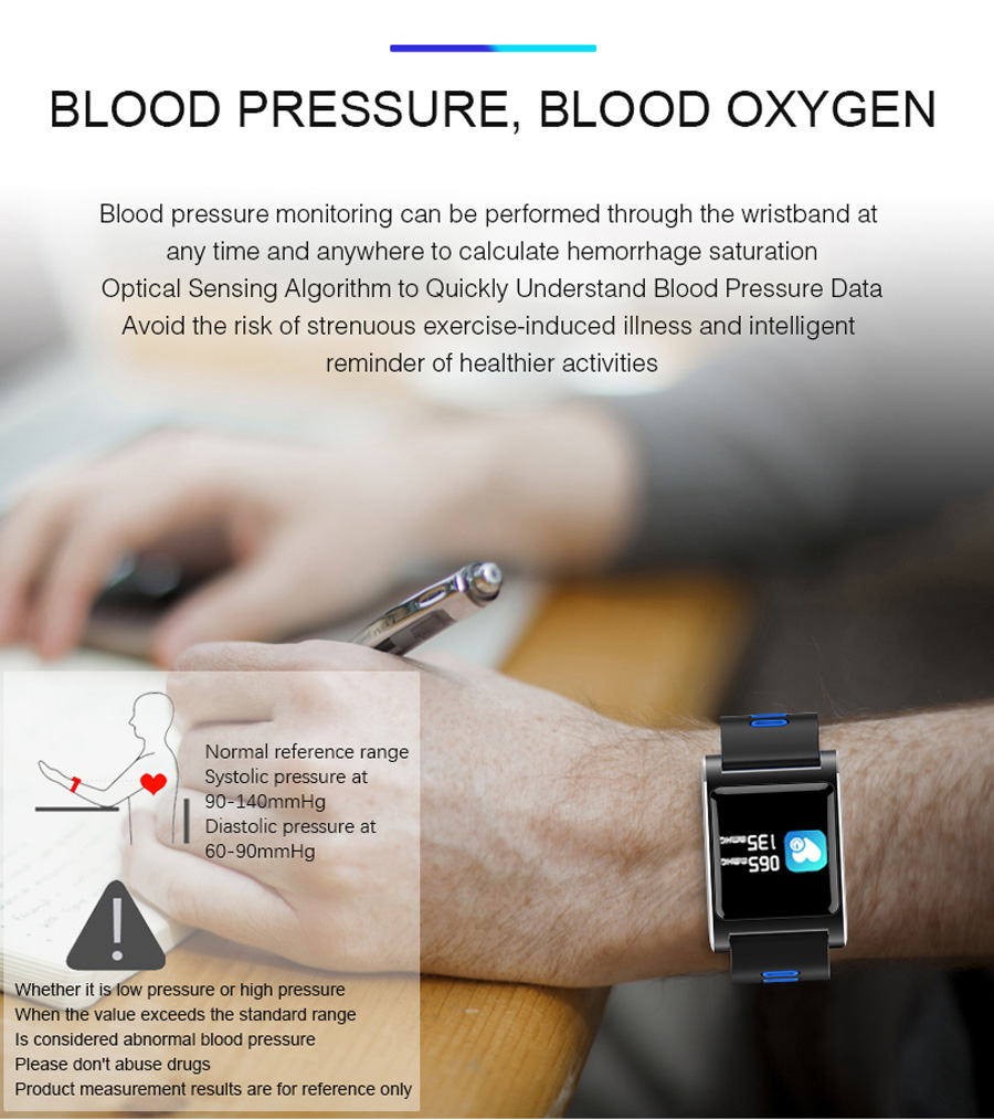 Volemer K88 plus Smart Band Blood Pressure Heart Rate Monitor Bracelet Color Display IP68 Waterproof Fitness Tracker Wristband (6)
