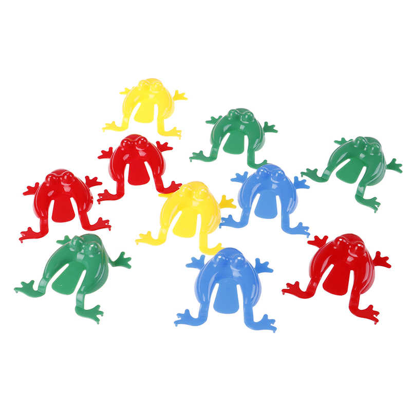 10pcs/lot Plastic Jumping Frogs ABS Kids Plastic Frog Family Game Action Figure Educational  Animal Toy Toys For Children
