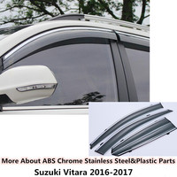 High Quality 4pcs For SUZUKI Vitara 2016 Car Body Styling Cover Stick Lamp Plastic Window Glass