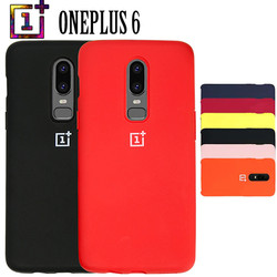 Luxury Oneplus 6 Case One Plus 6 Soft Liquid Silicon Back Cover Case with Logo Ultra Thin Matte 360 Degree Full Protective Funda