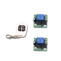 High Quality Smart Home Mini 12V Relay 1CH Wireless Remote Control Switch Transmitter Receiver With 4Buttons