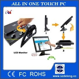 touch panel PROMOTION 15'' TFT LCD  touch screen monitor+folding bracket touchscreen