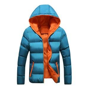 Image 5 - Davydaisy 2019 nova chegada homem parkas inverno homens jaquetas com capuz quente casaco fino marca moda outono jaqueta masculina S 4XL jk082