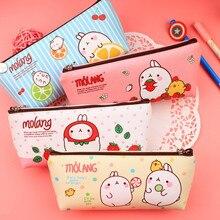 Children Stationery Cute Rabbit PU Leather Pencil Case School Office Supplies Kids Coin Purse Bag Storage