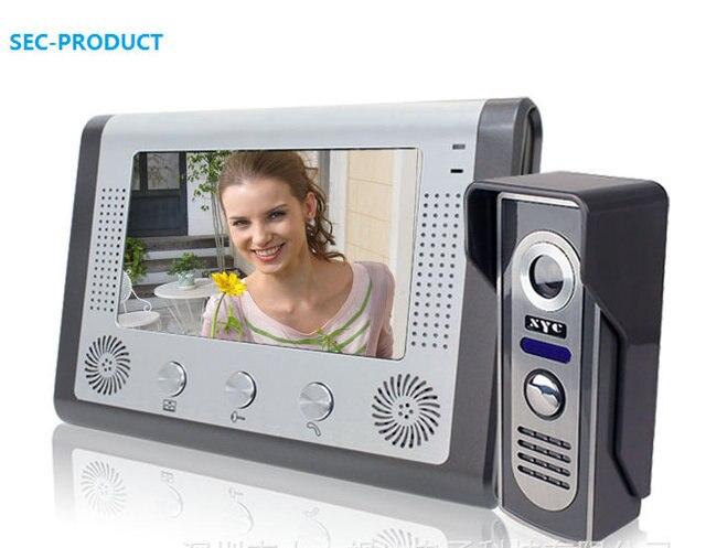 """7 """"TFT Экран Видео Домофон Видео-Телефон Двери с вызова, монитор, домофон, замок, hands-free, крытый двусторонний вызов интерком функция"""