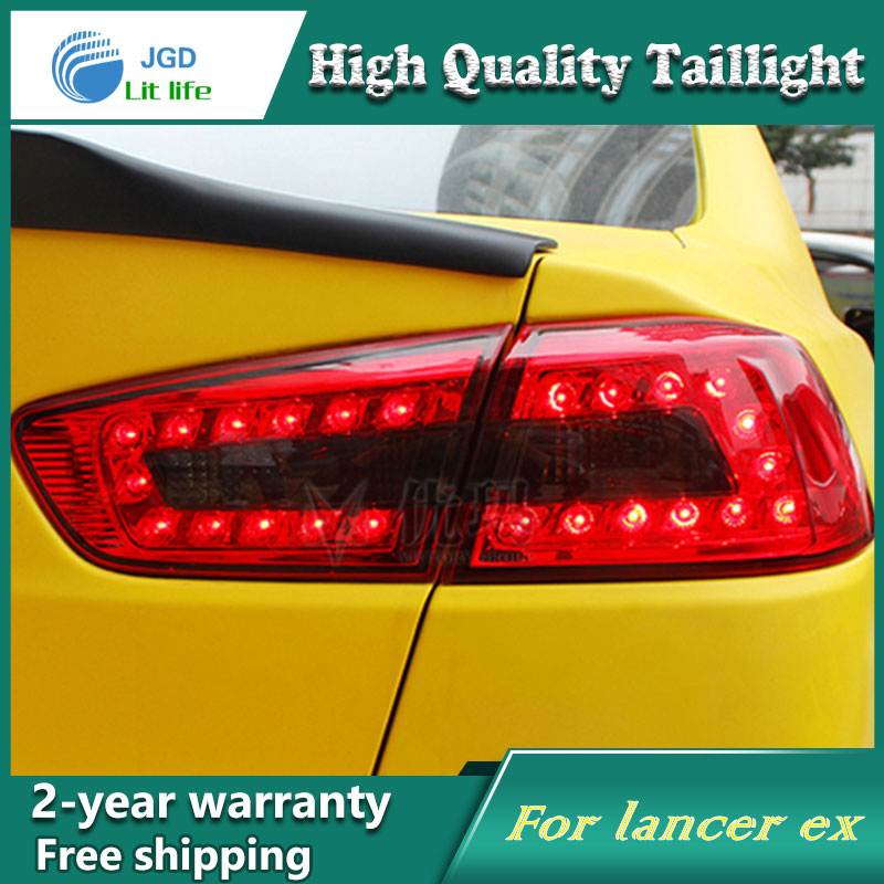 Car LED Tail Light Parking Brake Rear Bumper Reflector Lamp for Mitsubishi Lancer 2010-2013 Red Fog Stop Lights Car styling 2x led car styling red rear bumper reflector light fog parking warning brake tail lamp for toyota vellfire alphard 30 series