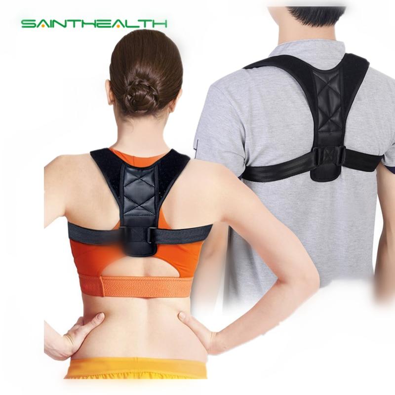Men Women upper back adjustable spine brace Posture Corrector Scoliosis Shoulder Support ...