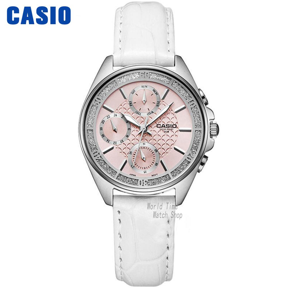 Casio watch fashion business three waterproof steel ladies watch LTP-2086D-1A LTP-2086L-7A  LTP-2085D-7A casio watch fashion casual quartz needle steel watch ltp 1359rg 7a ltp 1359sg 7a