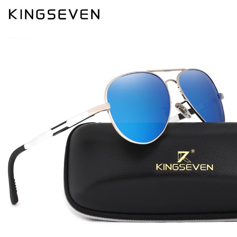 8cf845969f914 KINGSEVEN Moda Polarizada Óculos De Sol Dos Homens de Condução Óculos De Sol  Para Homens Óculos