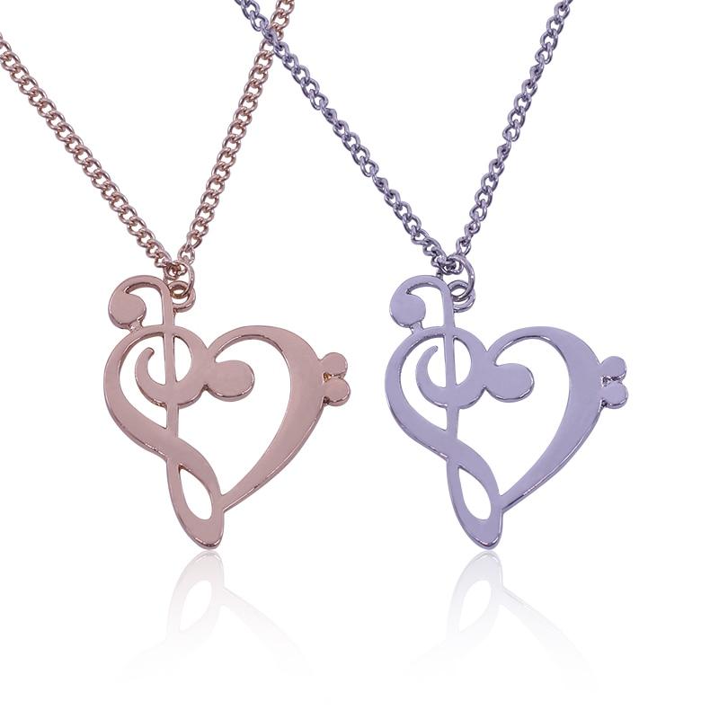New Fashion Gift Love Music Broken Heart font b Pendant b font font b Necklace b