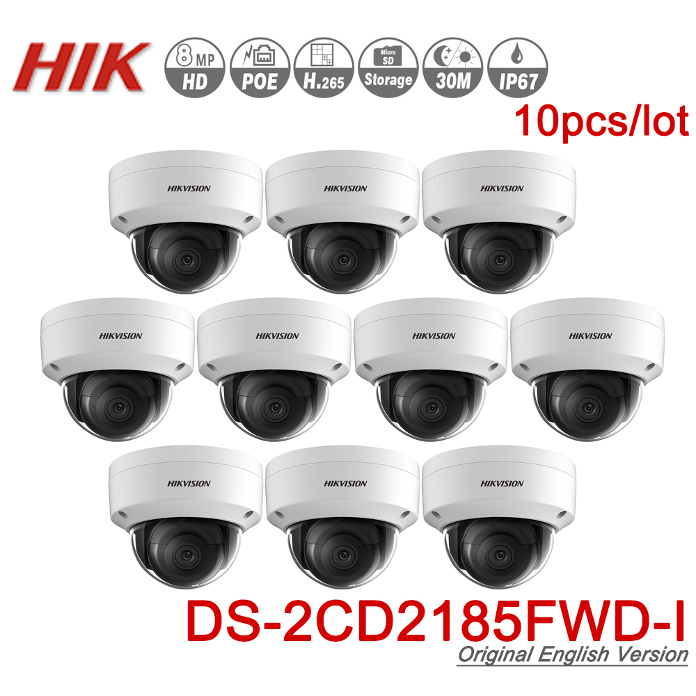 Hikvision Original 8MP IR Fixed Dome Network Camera DS 2CD2185FWD I POE IP Camera H 265
