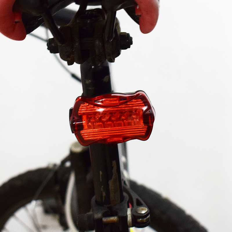 WasaFire Ultra Bright LED Bike Lights 5 LED Rear Tail Daytime Running Light Red Sports Bike Bicycle Back Lamp Tail Parking Light