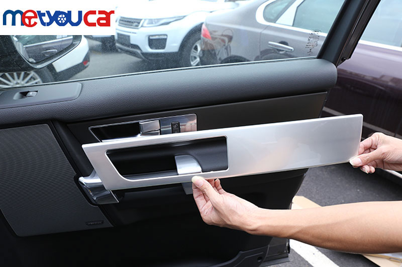 For Land Rover Discovery 4 LR4 Interior Door Handle Panel Trim ABS Chrome Sticker 2010-2016 Car Accessories New Arrivals 4pcs abs matte chrome interior accessory gear shift panel trim car sticker for land rover discovery sport 2015 2016 car styling